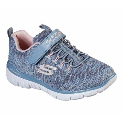 Skechers, kék színű, memória habos sport cipő lányoknak.