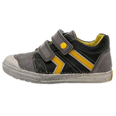 D.D.step, fekete színű, átmeneti fiú bőrcipő