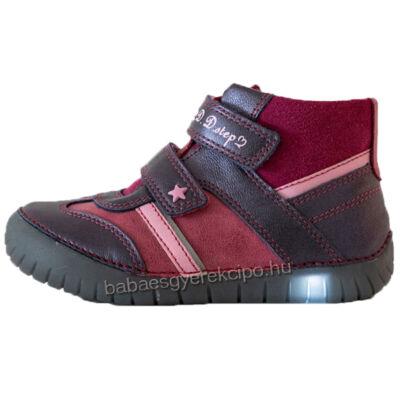 D.D.step, villogó talpú, átmeneti bőrcipő lányoknak