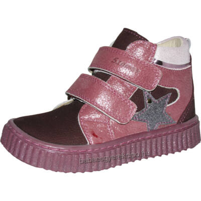 Szamos, mályva színű, csillaggal díszített, lány átmeneti cipő.
