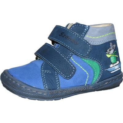 Szamos, kék-zöld kisegeres átmeneti gyerekcipő kisfiúknak