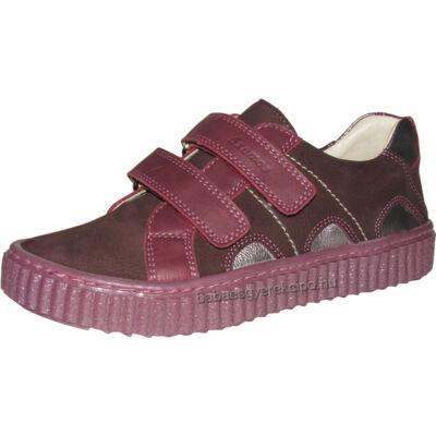 Szamos, bordó színű, tépőzáras, átmeneti cipő lányoknak.