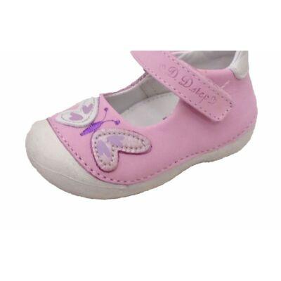 D.D.Step, rózsaszín pillangós tavaszi gyerekcipő lányoknak. - 20