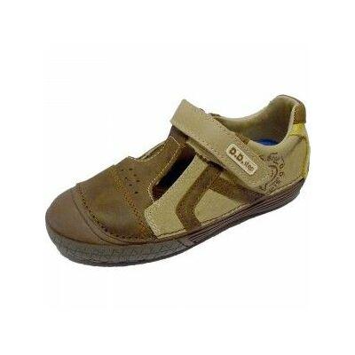 D.D.Step barna tavaszi bőrcipő