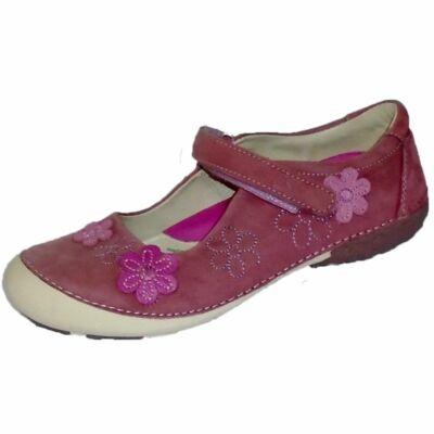 Virágokkal díszített D.D.Step balerina tavaszi cipő lányoknak - 36