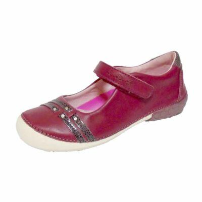 D.D.Step bordó balerina fazonú bőrcipő nagylányoknak - 33