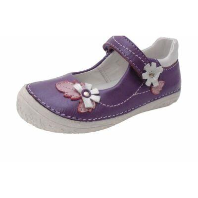 D.D.Step, lila, ezüst virágos tavaszi gyerekcipő lányoknak. - 28