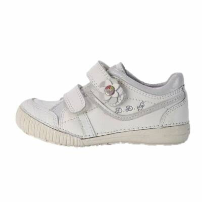 D.D.Step fehér lány átmeneti bőrcipő