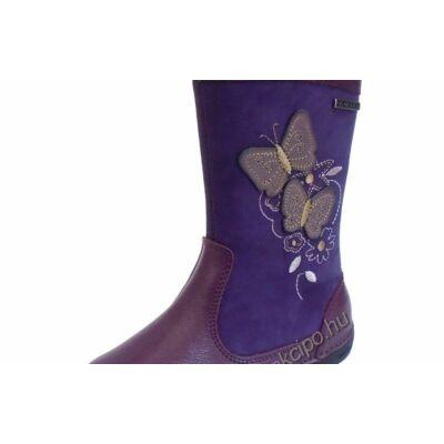 D.D.Step lila színű , pillangókkal díszített, téli gyerek cipő lányoknak - 29
