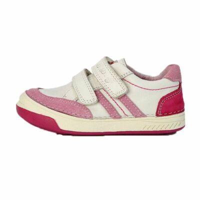 D.D.Step fehér lány gyerek átmeneti bőrcipő