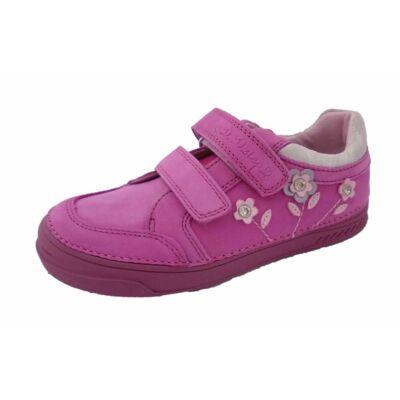 d.d.step,zárt,pink,virágos,gyerekcipő