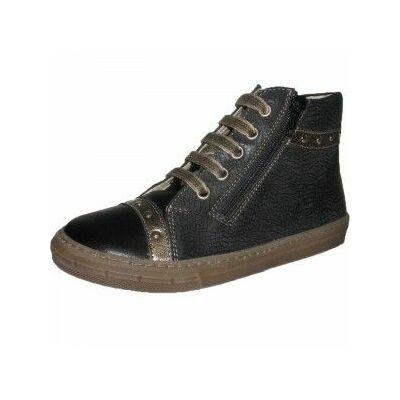 Tornacipő stílusú vagány fekete Szamos bőrcipő nagylányoknak 1