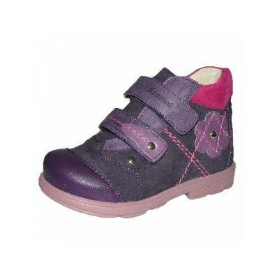 Döntött talpú virágos supinált Szamos bőrcipő lányoknak - 35