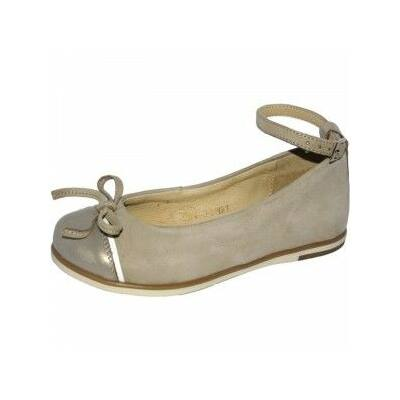 Szamos, arany színű, balerina, tavaszi lány gyerek bőrcipő