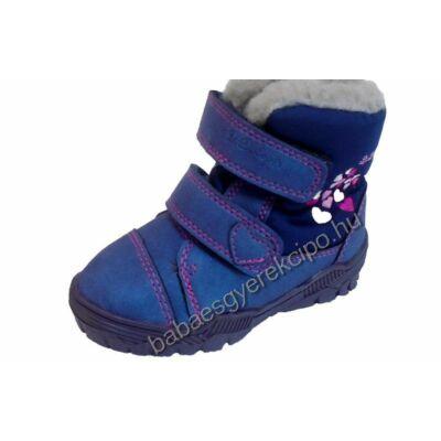 D.D.Step, Aqua- tex, vízlepergető réteggel ellátott,téli gyerek bőr cipő lányoknak - 28