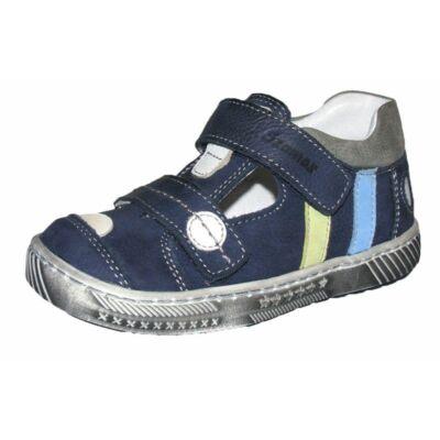 Kék Szamos két tépőzáras tavaszi bőrcipő fiúknak 1