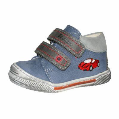 szamos kék, fiú bőrcipő