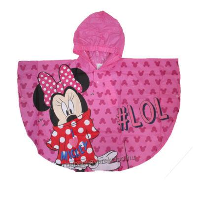 Disney Minnie egér mintás, rózsaszín esőponcsó lányoknak