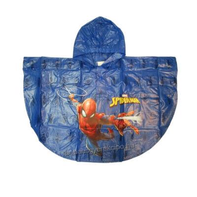 Pókember mintás, kék, esőponcsó fiúknak